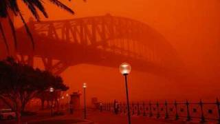 Red Dust Storm Over Sydney