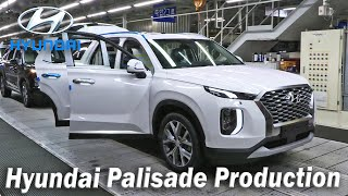 2020 Hyundai Palisade Production Ulsan Plant Luxury SUV Manufacturing, Palisade Assembly line