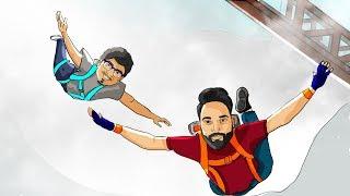 Paragliding Fail ft. Mortal • GTA 5 Funny Moments & Fails