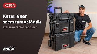 Keter Gear szerszámosládák: professzionális szerszámtároló rendszer