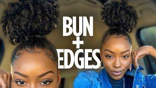 BUN + EDGES TUTORIAL | Slim Reshae