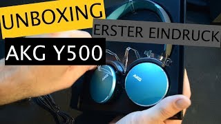 UNBOXING & ERSTER EINDRUCK // AKG Y500 Wireless Headset