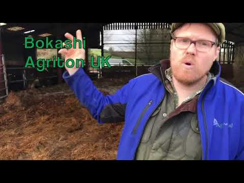 Making Bokashi with Agriton UK at Stantyway Farm, Devon.