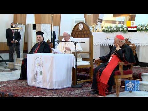 Rencontre du pape François avec les évêques, les prêtres, les religieux et les catéchistes irakiens