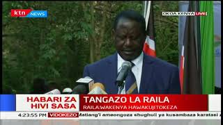 Raila Odinga promises endless demonstrations and picketing going forward
