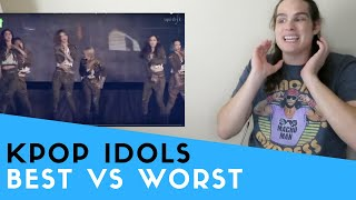 Voice Teacher Reacts to Kpop Idols WORST vs. BEST Live Vocals
