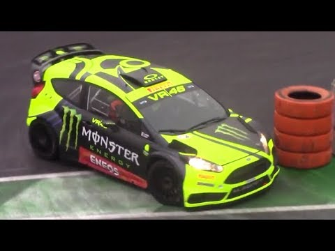 Valentino Rossi Ford Fiesta RS WRC in action at Monza Rally Show 2017