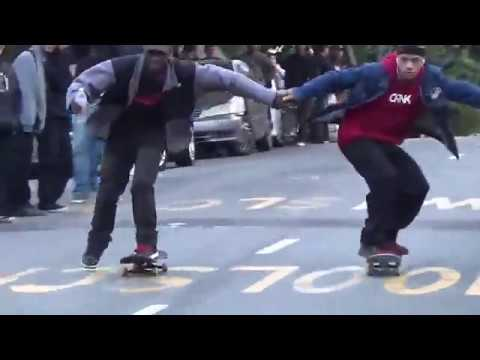 Every year, skateboarders shut down a very busy, very steep road in San Francisco to go really fast and cause mayhem.