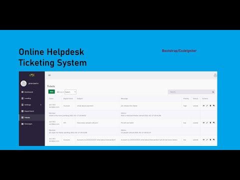 Online Helpdesk Ticketing System
