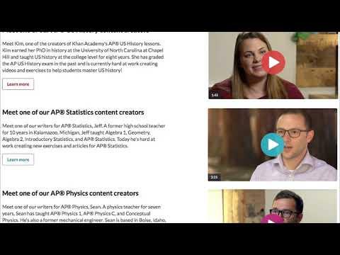 Content on Khan Academy (video)   Khan Academy