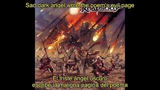 Rhapsody - Tears Of A Dying Angel (Lyrics & Sub. Español)