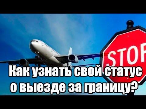 ✓ Как узнать свой статус о выезде за границу?
