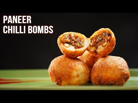 Paneer Chilli Bombs | How To Make Paneer Starter | Quick & Easy Starter Recipe | Ruchi
