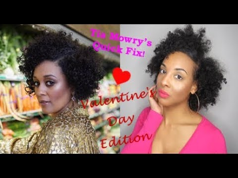 3 Valentine's Day Hairstyles  For Naturally Curly Hair | Tia Mowry Quick Fix