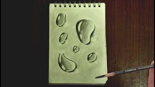 Нарисуйте 3 мерные капли которые выглядят настолько реальными
