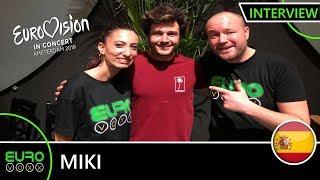 SPAIN EUROVISION 2019: Miki   'La Venda' INTERVIEW! | Eurovision In Concert 2019