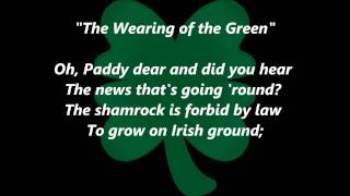 IRISH SONGS:  The Wearing of the Green with Lyrics SING ALONG  Irishsongs music