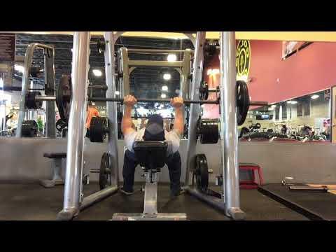 Smith Machine Incline Tricep Press - Triceps