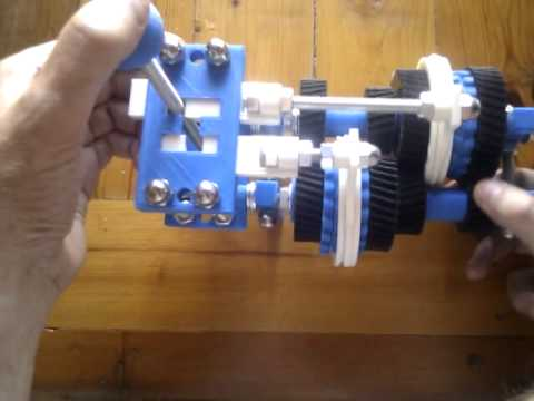 Four speed gearbox with H shifter by toddsplod67 - Thingiverse