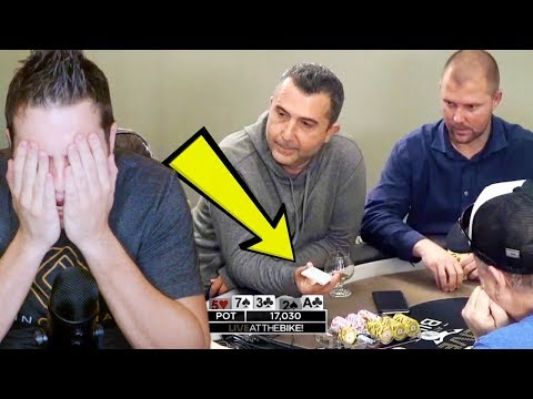 Loose Maniac SHOWS HIS CARD! Craziest Poker Game Ever.