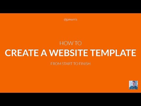 How to Create a Website Template From Start to Finish - YouTube