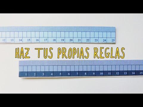 Haz tu propia regla para medir (DIY Regreso a clases| Back to school)