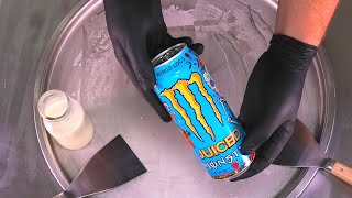 Juiced Monster Energy Ice Cream Rolls | Ice Cream with Monster Energy Drink | satisfying food ASMR