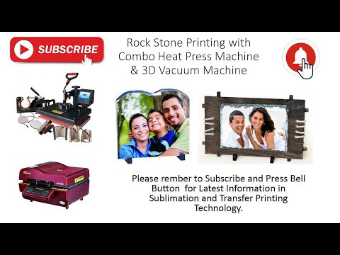 Sublimation Rock Stones with Wooden Frames