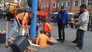 preview picture of video 'Maibaumaufstellung 2013, Heimatring'