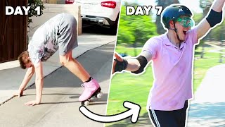 Clumsy Guy Learns To Roller Skate in 7 Days thumbnail
