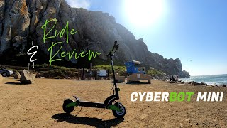 Cyberbot Mini Electric Scooter 1st Time Ride & Review | RAW FPV Uncut Footage @Morro Rock CA