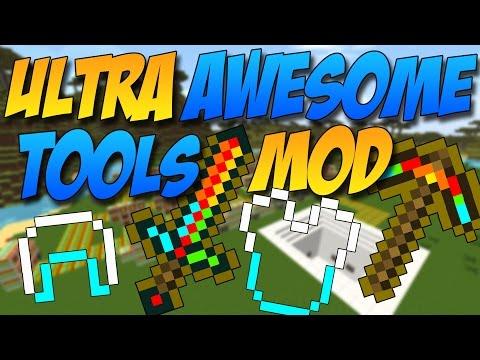 ULTRA AWESOME TOOL MOD: Herramientas, Espadas Y Armaduras Chetadas - Minecraft Mod 1.7.10