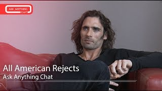 All American Rejects Talk About Sweat, Mario Lopez' Muscles & His Hair.  Watch Part 1