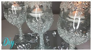 DIY CRUSHED GLASS CENTERPIECE 💍 BLING WEDDING SERIES 2018