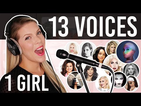 1 GIRL 13 VOICES (Ariana Grande, Lady Gaga, Selena Gomez, Cher and many more)