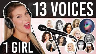 1 GIRL 13 VOICES (Ariana Grande, Lady Gaga, Selena Gomez, Cher and many more)
