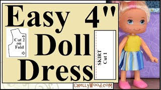 Free Doll Clothes Patterns: 4 Inch Doll Clothes Tutorial
