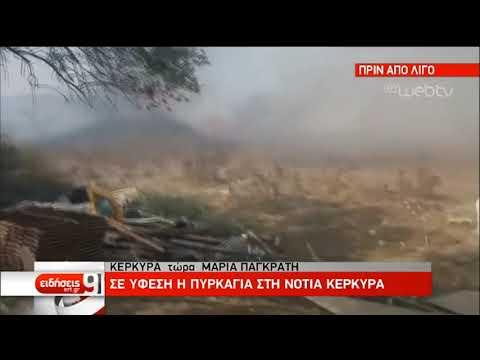 Σε ύφεση η πυρκαγιά στην Κέρκυρα -Υψηλός ο κίνδυνος πυρκαγιάς και την Τετάρτη | 27/08/2019 | ΕΡΤ