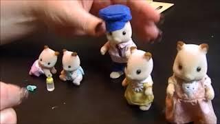 Calico Critter Fluffy Hamster Family