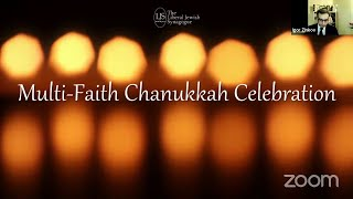 "The ""NEVER AGAIN"" Association welcomed at Chanukkah Multi-Faith Celebration, 17.12.2020."