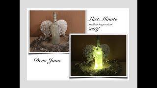 DIY: Last Minute Geschenk Selbst Gemacht- Christmas Present- Flaschenengel- Angel / Deko Jana