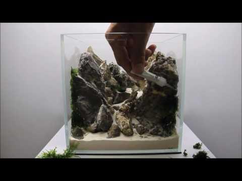 Aquascaping Aquadesigner Mountain Scape Realisation Nano Aquarium
