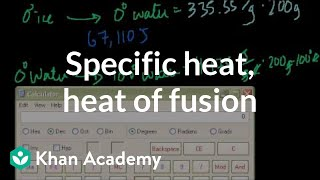 Specific Heat, Heat of Fusion and Vaporization