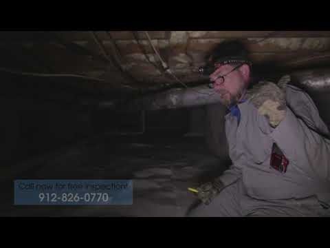 In this video Lowcountry Basement Systems' inspector Brian, walks us through a very wet crawl space that had been previously treated the old fashioned way, with an unsealed vapor barrier on the floor and open vents. Brian explains why this old way to treat crawl spaces doesn't work, as he shows us all the different problems that can be found in this and in every unsealed crawl space in Georgia.