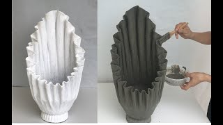 Cement Craft Ideas / Unique With Potted Plants Made From Rags And Cement