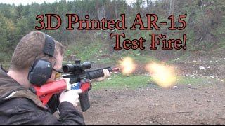 3D Printed AR-15 Test Fire!!
