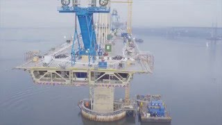 Queensferry Crossing Drone Footage December 2015 HD