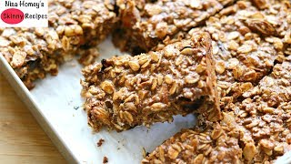Homemade Protein Bars Recipe - Healthy Granola Bars - Oats Recipes For Weight Loss | Skinny Recipes