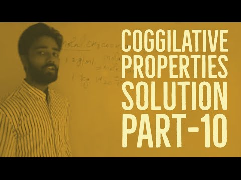 Solution part -10 colligative properties |Numericals problems and solution