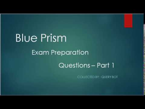 Blue Prism Certification Exam Preparation - Guide - 1 - YouTube